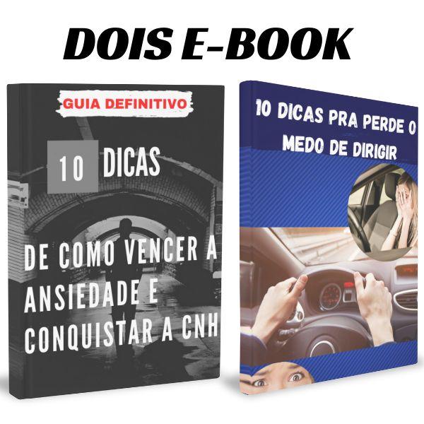 Imagem principal do produto Dois e-Book 10 Dicas pra Vencer a Ansiedade e 10 Passo pra Perde o medo de dirigir