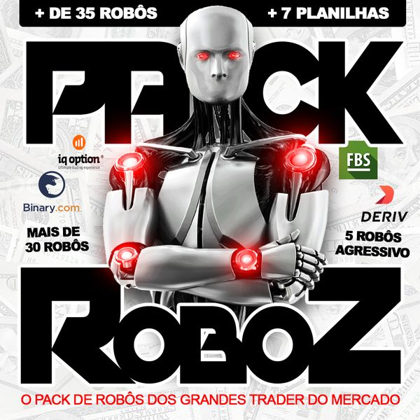 Imagem principal do produto 50 Robôs Trader - Pack Exclusivo