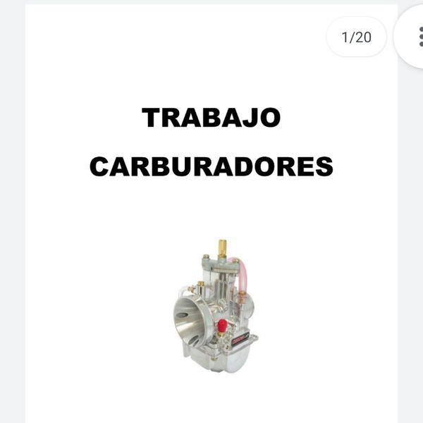 Imagem principal do produto CARBURADORES