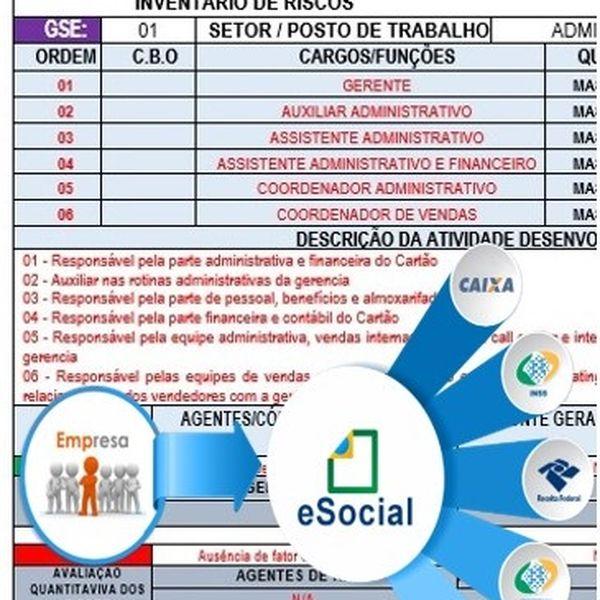 Imagem principal do produto INVENTÁRIO DE RISCOS DO PGR NA PRÁTICA COM EXEMPLOS (PREENCHIDO) DE ACORDO COM A NR-01;
