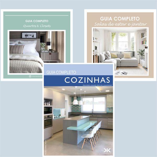 Imagem principal do produto KIT Guias completos: Cozinhas, Salas e Quartos