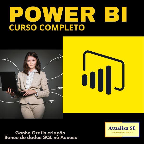 Imagem principal do produto POWER BI (Curso Completo) + bônus Banco de Dados Access usando linguagem SQL