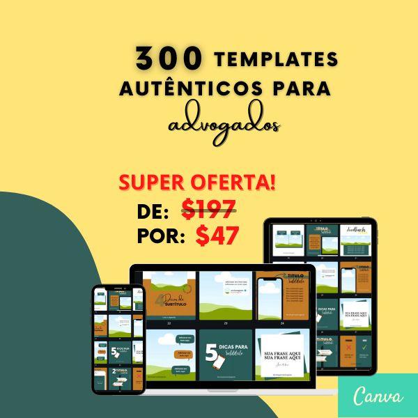 Imagem principal do produto Canva Pack Feed para Advogados 300 Templates
