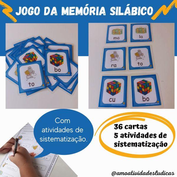 Imagem principal do produto Jogo da memória silábico