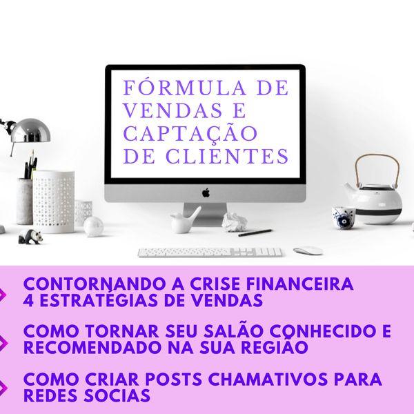 Imagem principal do produto Fórmula de Venda para Salão de Beleza, Sobrancelhas, Barbearia e Estética