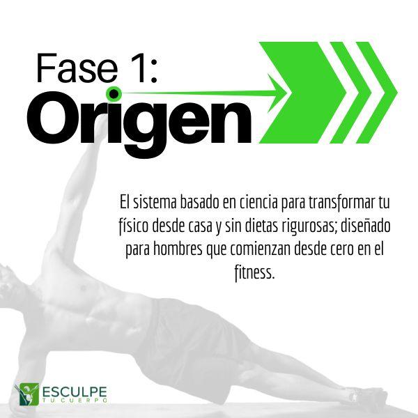 Imagem principal do produto Fase 1: Origen. Fitness Basado En Ciencia Para Hombres Que Comienzan Desde Cero