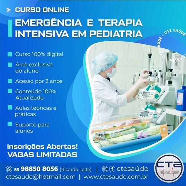 Imagem principal do produto Curso Online Emergência e Terapia Intensiva em Pediatria da CTE SAÚDE