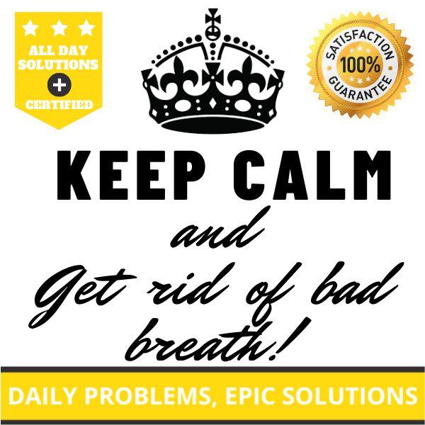Imagem principal do produto Keep calm and Get rid of bad breath!
