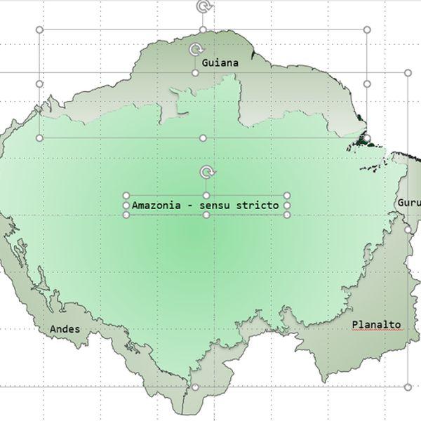 Imagem principal do produto Bioma Amazônia - Mapa Editável para PowerPoint