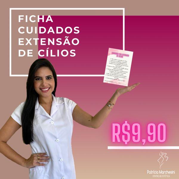 Imagem principal do produto FICHA CUIDADOS COM EXTENSÃO DE CÍLIOS