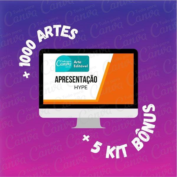 Imagem principal do produto Apresentação Hype - Artes Para Canva +1000Artes+5KitsBônus
