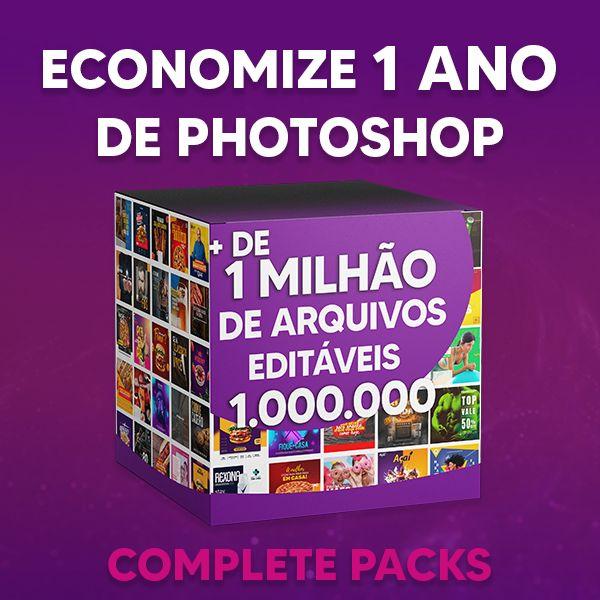 Imagem principal do produto Complete Packs - A mais FODA plataforma de design