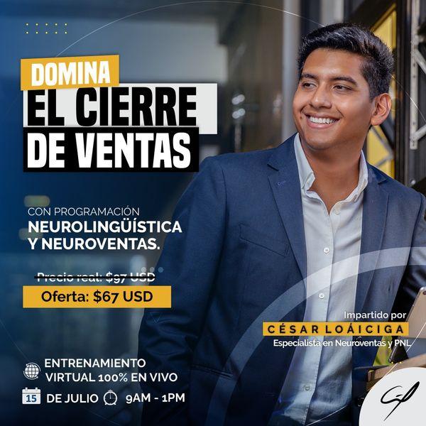 Imagem principal do produto Domina El Cierre De Ventas, 29 de Julio