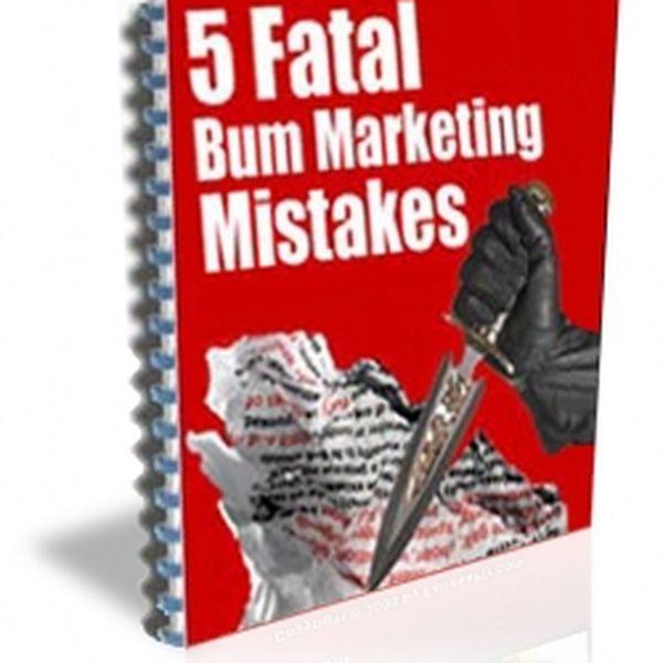 """Imagem principal do produto e-book """"5 Fatal Bum marketing Mistakes"""""""
