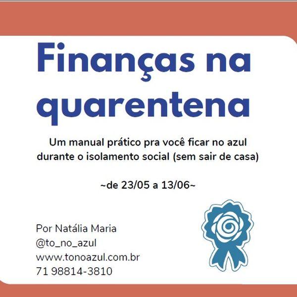 Imagem principal do produto E-book Finanças na Quarentena