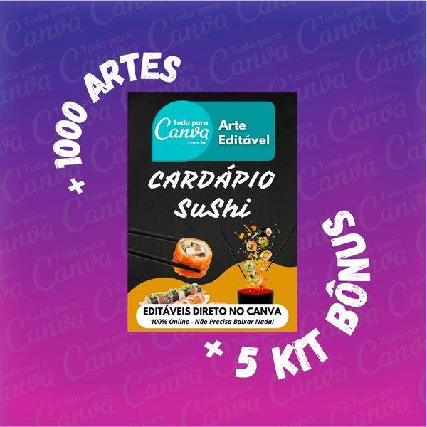Imagem principal do produto Cardápio Sushi - Arte Para Canva +1000Artes+5KitsBônus