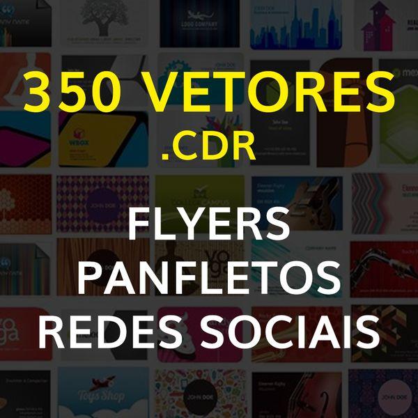 Imagem principal do produto 350 VETORES CDR PARA FLYERS - PANFLETOS E REDES SOCIAS