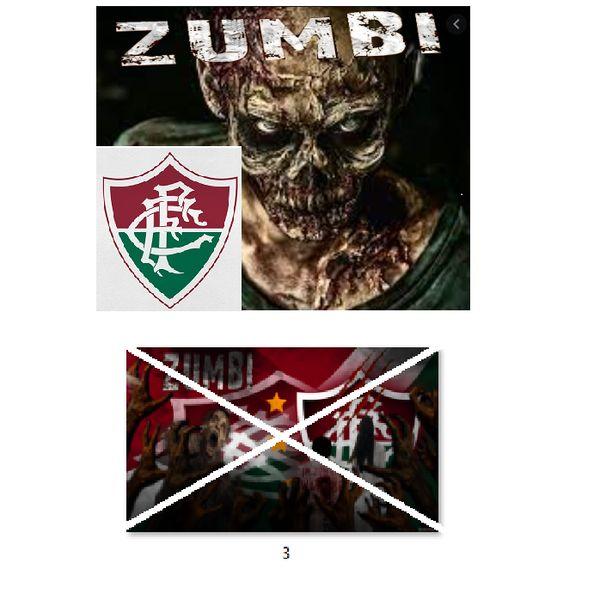 Imagem principal do produto Fluminense zumbi foto para estampar camisetas 3