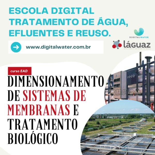 Imagem principal do produto CURSO EAD DIMENSIONAMENTO EM SISTEMAS DE MEMBRANAS E TRATAMENTO BIOLÓGICO