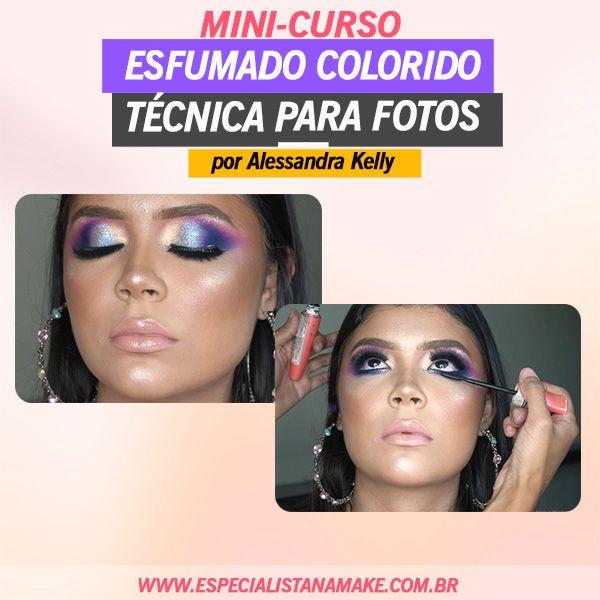 Imagem principal do produto Esfumado Colorido - Técnica de Maquiagem para Fotos
