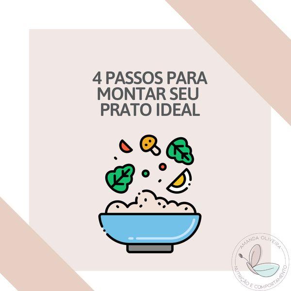 Imagem principal do produto 4 Passos para montar seu prato ideal