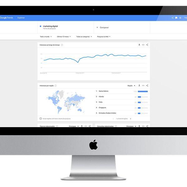 Imagem principal do produto Google Trends: Conheça a ferramenta de tendências mais usada.