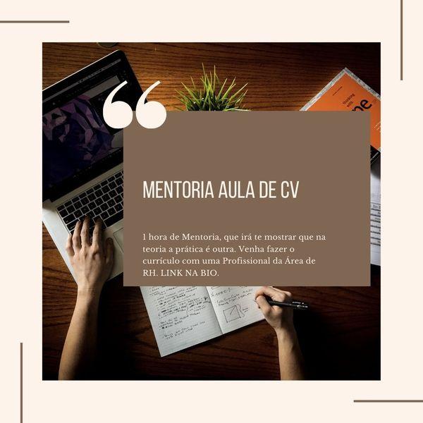 Imagem principal do produto Mentoria  Aula de CURRICULO