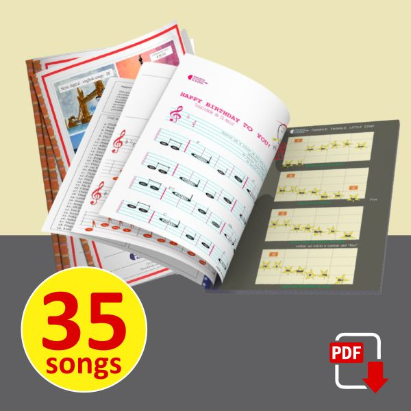 Imagem principal do produto English Childrens and Popular Songs Booklet for Anglophone Countries