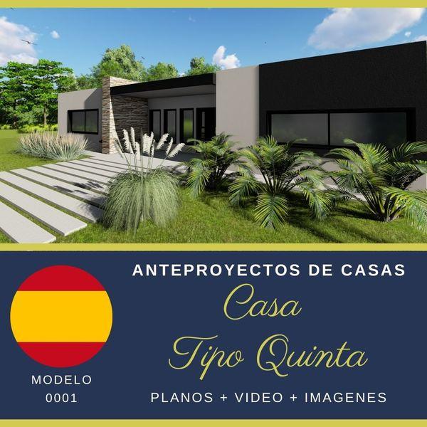 Imagem principal do produto Anteproyecto de casas- Tipo quinta- Español (M-0001)