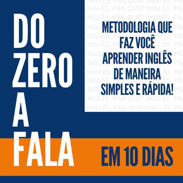 Imagem principal do produto Do ZERO a FALA em 10 dias
