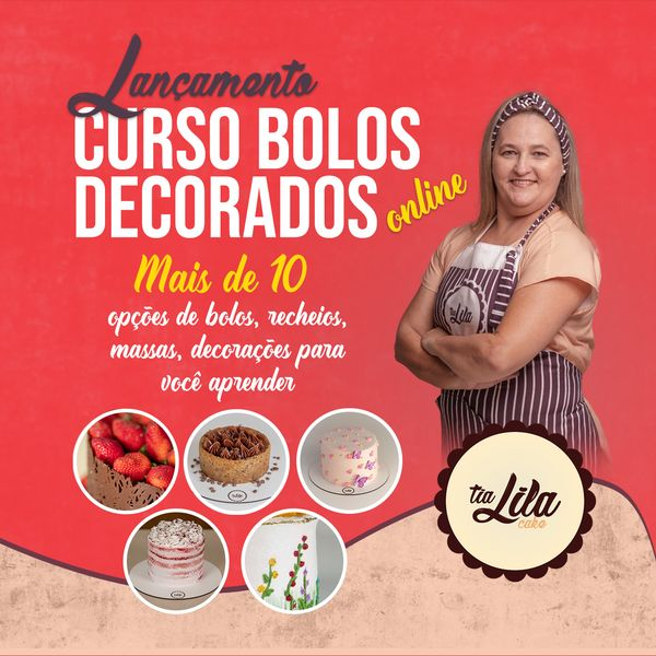 Imagem principal do produto Curso Bolos Decorados