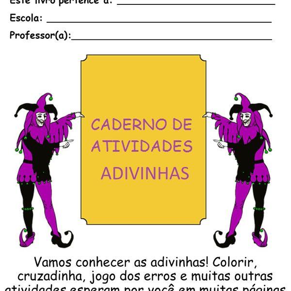 Imagem principal do produto Caderno de atividades  - Projeto Adivinha - Ensino Fundamental I