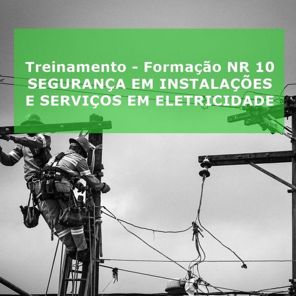 Imagem principal do produto Treinamento - Formação NR 10 SEGURANÇA EM INSTALAÇÕES E SERVIÇOS EM ELETRICIDADE
