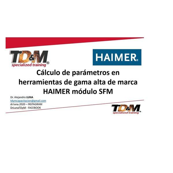 Imagem principal do produto Cortadores HAIMER SFM - parámetros de corte