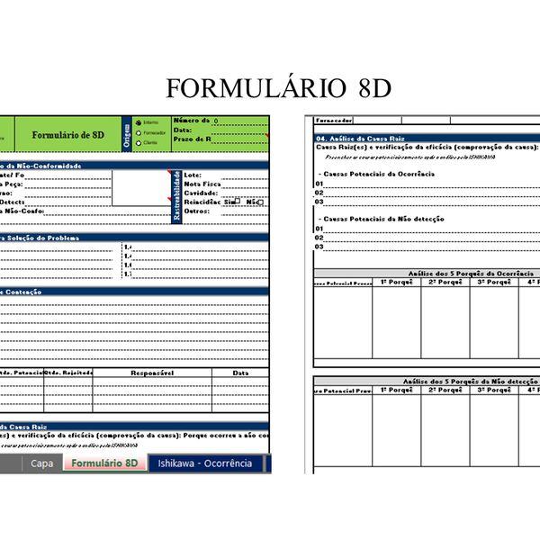 Imagem principal do produto FORMULÁRIO 8D - ANÁLISE E SOLUÇÃO DE PROBLEMAS (MASP)