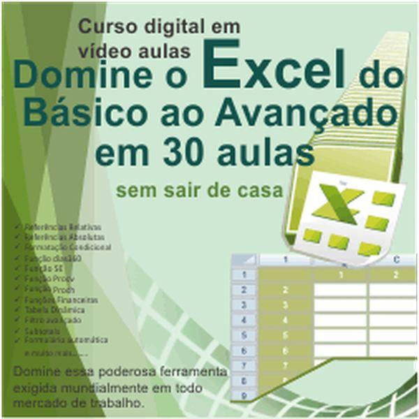 Imagem principal do produto Domine o excel do básico ao avançado em 30 aulas sem sair de casa