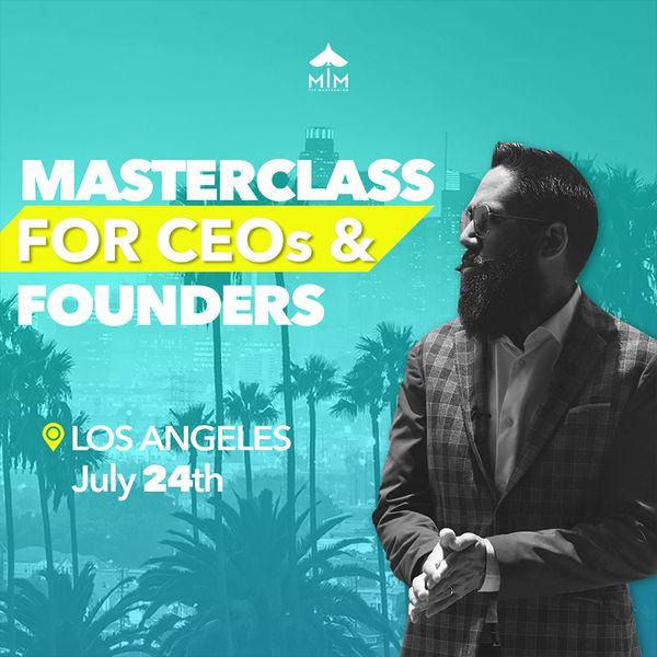 Imagem principal do produto MasterClass for CEO's & Founders / Los Angeles