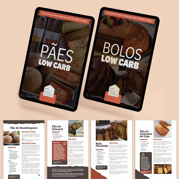 Imagem principal do produto Combo: Pães e Bolos Low Carb - Feito por Thata Moreira