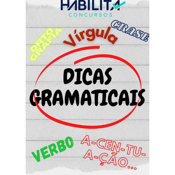 Imagem principal do produto Dicas Gramaticais de Português - Habilita Concursos