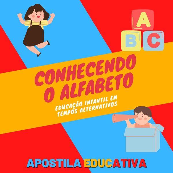 Imagem principal do produto Apostila EducAtiva - Conhecendo o Alfabeto