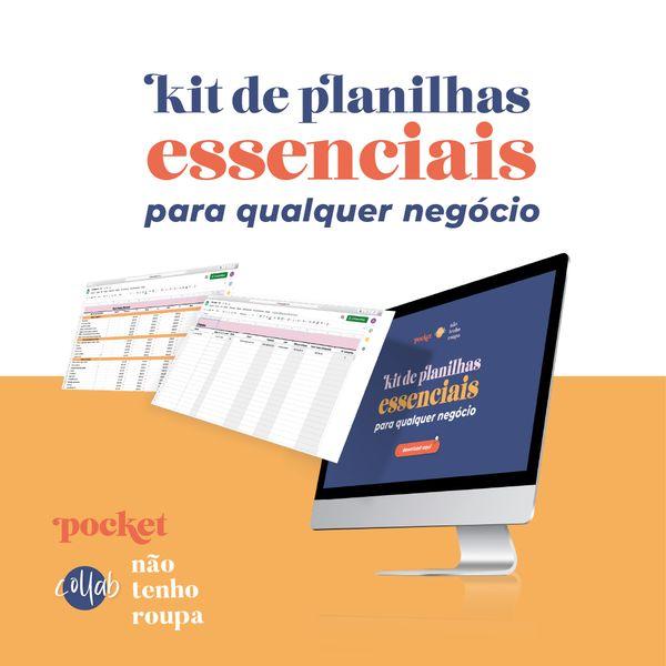 Imagem principal do produto Kit de Planilhas Pocket & Não Tenho Roupa