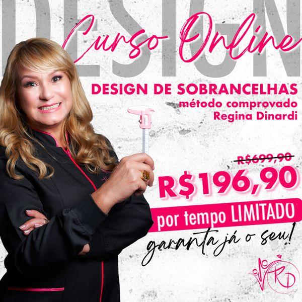 Imagem principal do produto CURSO DESIGN DE SOBRANCELHAS MÉTODO REGINA DINARDI