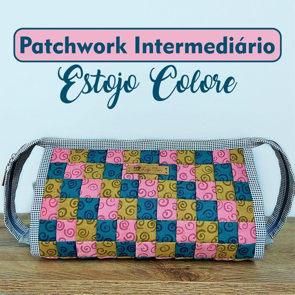 Imagem principal do produto Patchwork Intermediário: Estojo Colore