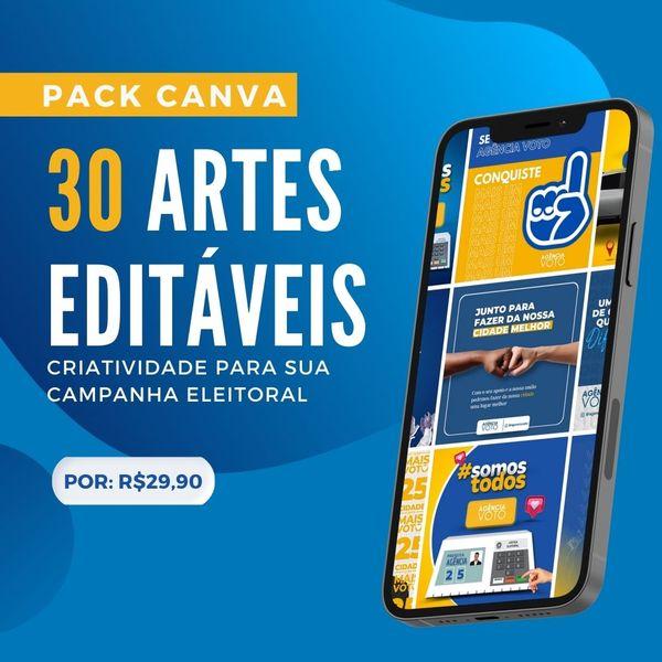 Imagem principal do produto Canva Pack - 30 templates prontos para Marketing Político e Eleitoral