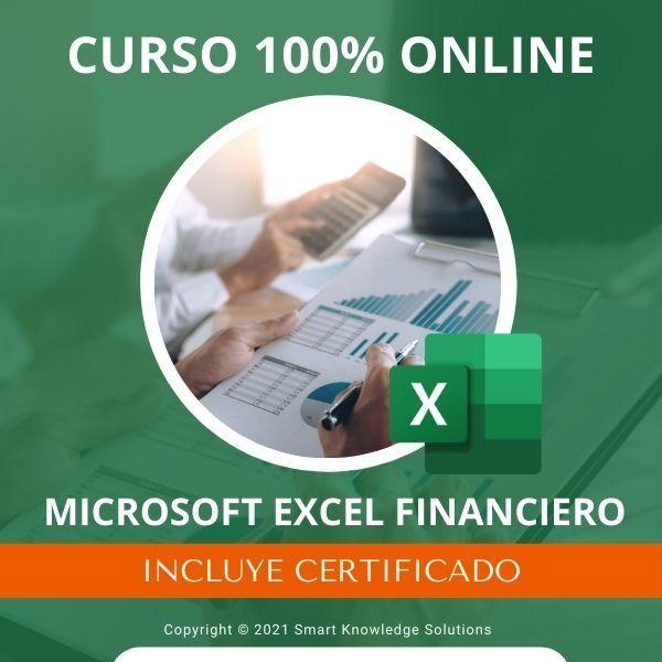 Imagem principal do produto Curso completo 100% Online de Microsoft Excel Financiero incluye libro y certificado
