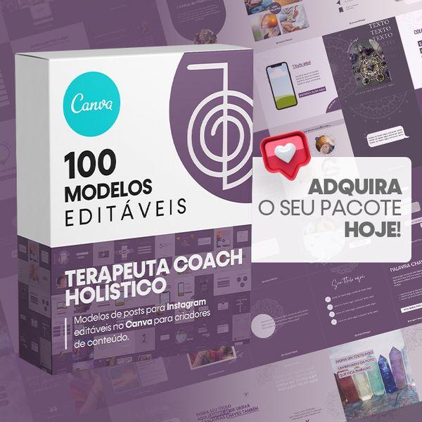Imagem principal do produto Canva +100 Templates Terapeuta Holístico Para Instagram