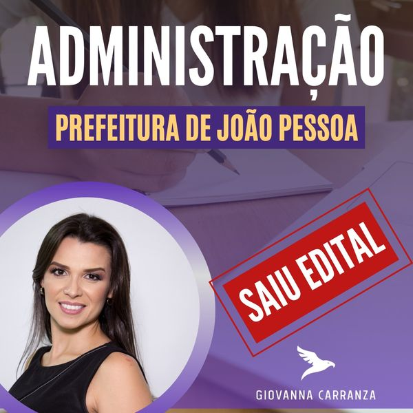Imagem principal do produto Curso completo para Prefeitura de João Pessoa