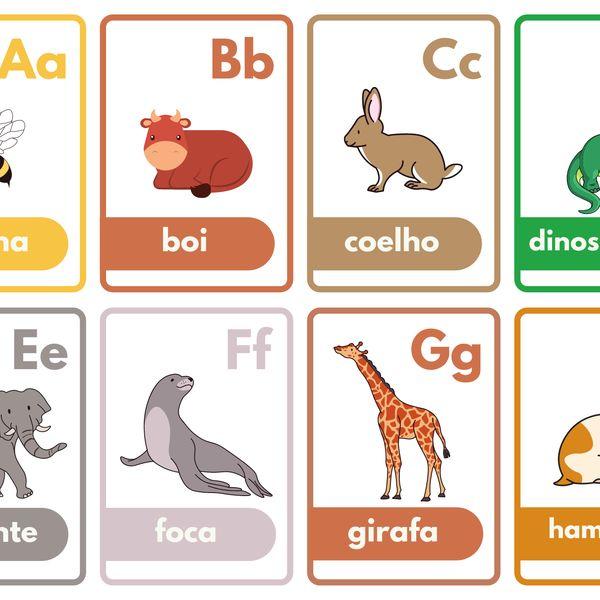 Imagem principal do produto Alfabeto em flashcard