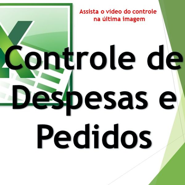 Imagem principal do produto Controle De Despesas E Pedidos - Excel Planilhas Avançadas