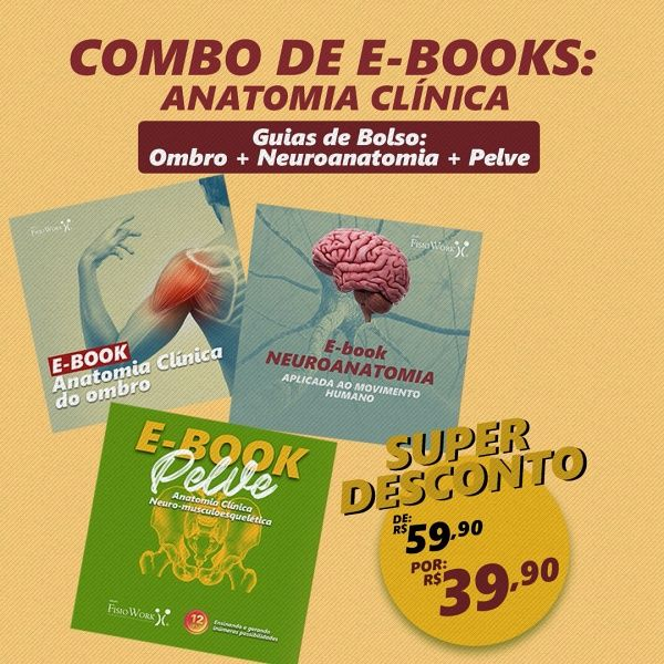Imagem principal do produto Combo Ebooks - Guia de Bolso - Neuroanatomia, Ombro e Pelve